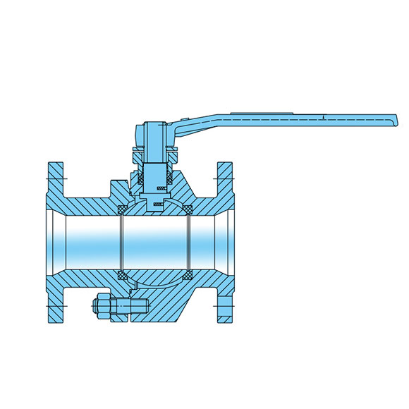 2-PC Forged Steel Floating Ball Valve
