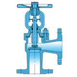 Angle Type (90°) Bellow Seal Globe (Stop) Valve